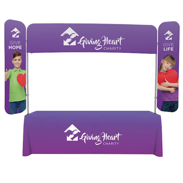 8' EuroFit Monarch Kit Tablet Top Display With Graphics