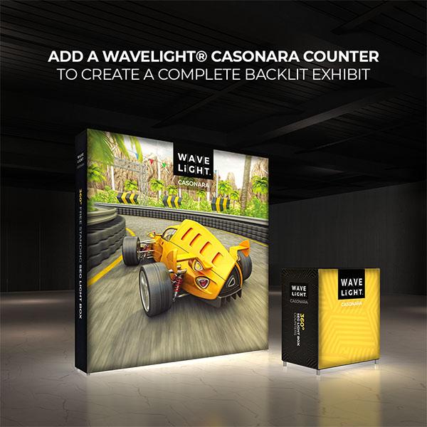 8' WaveLight Casonara LED Backlit Kit Display With Optional Casonara Counter