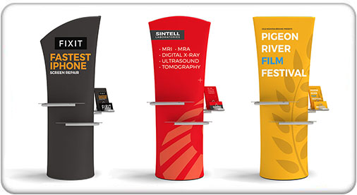 Brandcusi Banner Stand Straight, Curved and Angled with Graphics