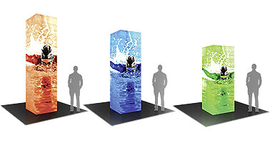 Formulate Backlit Towers Tension Fabric Displays