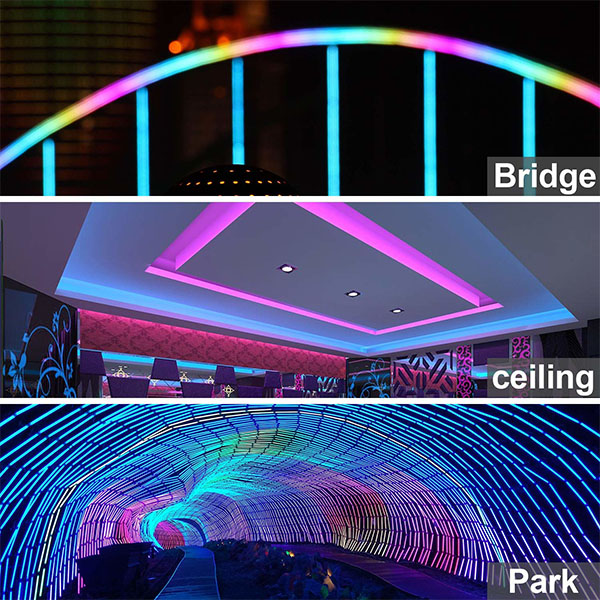 LED 120v RGB Color Changing Flex Neon Light Kit Different Applications