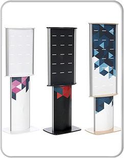 Meridian Retail Displays Small, Medium and Large Sizes