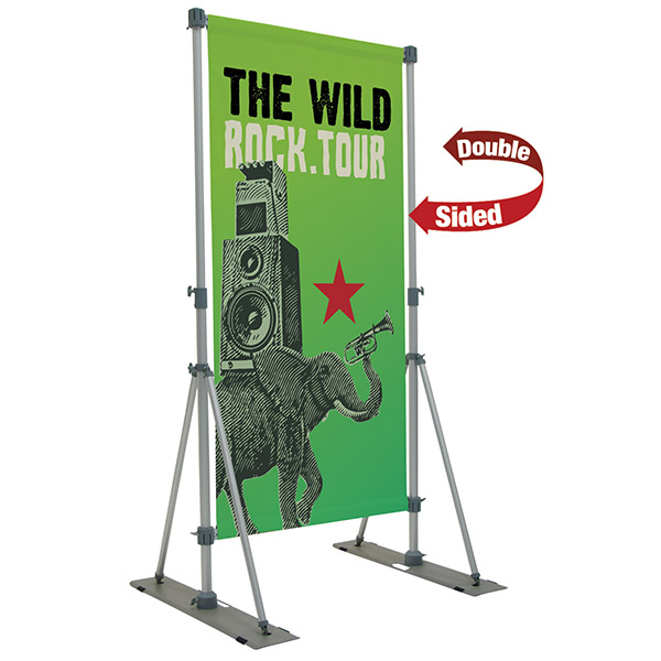 Performer Banner Display Outdoor Banner Stand Double Sided Graphics