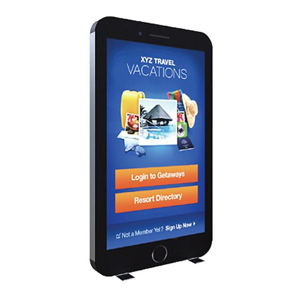 Radius Glo kit Backlit Tension Fabric Display Smartphone Shape
