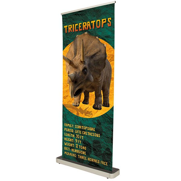 Stellar Retractor Banner Stand No-Curl Opaque Fabric Retractable Banner Stand