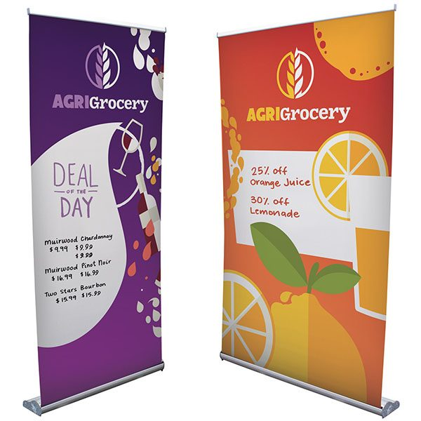 Stratus Retractor Banner Stand Kits Dry-Erase Media Different Sizes