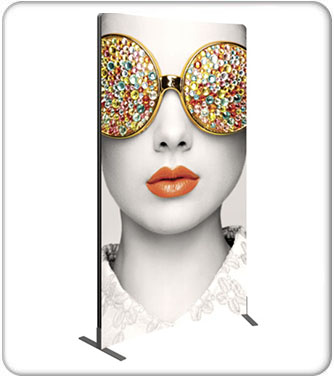 Vector Frame Curved 02 Fabric Banner Stand