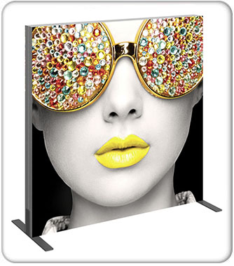 Vector Frame Light Box Square 02 Fabric Banner Display Front View