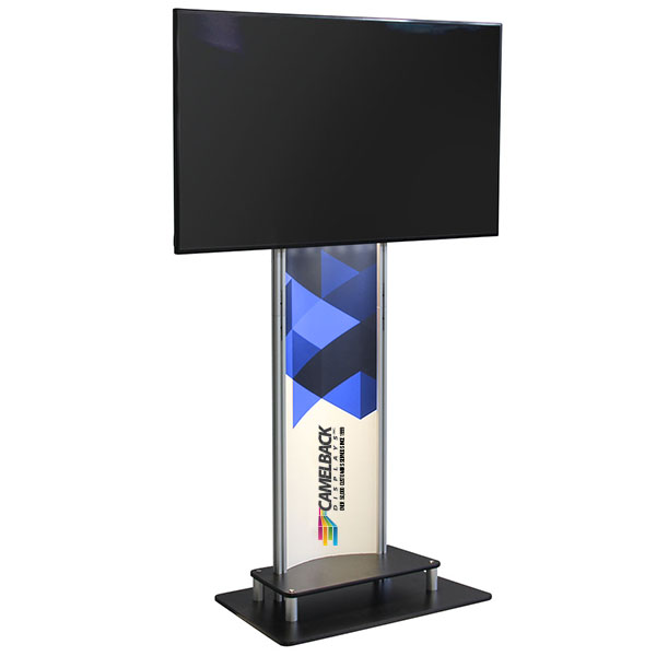 XL Horizontal Monitor Stand Kit Monitor Stand With LED Light Bar and Graphic Panel