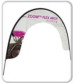 Zoom Flex Outdoor Arch Banner Stand Product Display