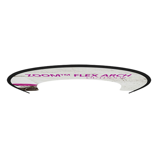 Zoom Flex Outdoor Arch Banner Stand Top View