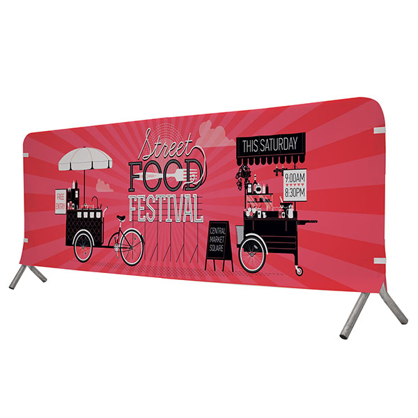 10' Full Color Fabric Barricade Covers Crowd Control Displays