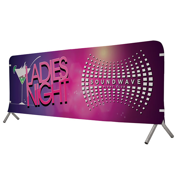 10' Full Color Vinyl Barricade Covers Crowd Control Displays