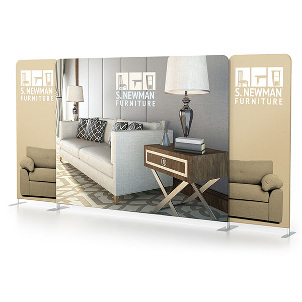 10' x 8' Scenic Fabric Walls Tension Fabric Displays With Graphics