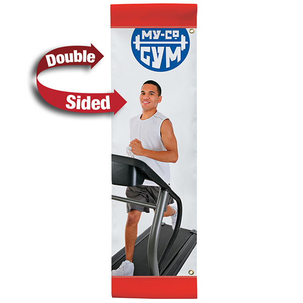 """24"""" x 72"""" Vinyl Boulevard Banner Stand Double Sided"""
