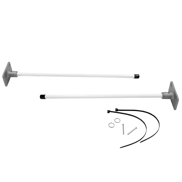 """24"""" Vertical Wall Mount Banner Bracket System For Indoors And Outdoors"""