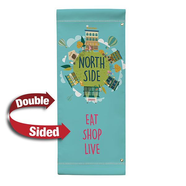 """24"""" Vinyl Boulevard Banner Stand Double Sided"""