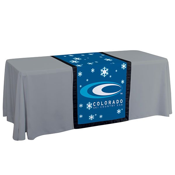 "28"" Full Color Accent Table Runner Black Trim"