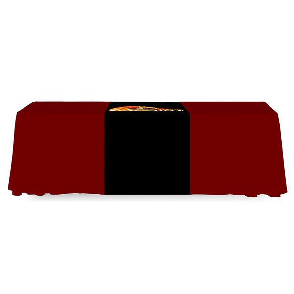 2' Budget Runner Full Color Dye Sub Table Runner Full Back