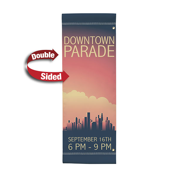 "30"" x 84"" Vinyl Boulevard Banner Stand Double Sided"