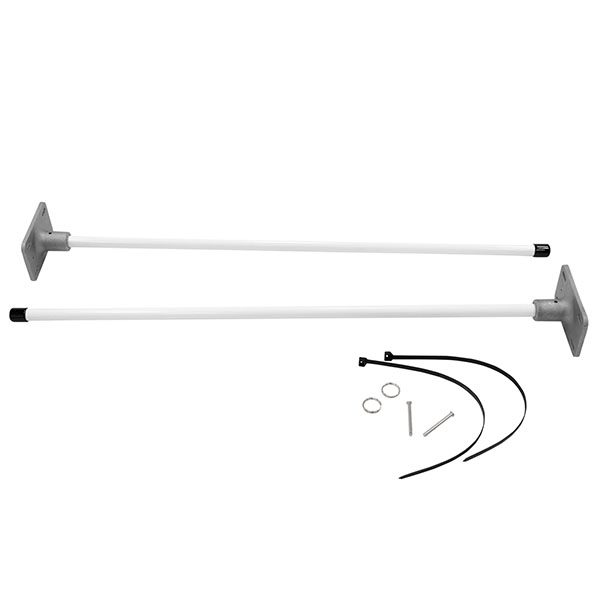 """36"""" Vertical Wall Mount Banner Bracket System For Indoors And Outdoors"""