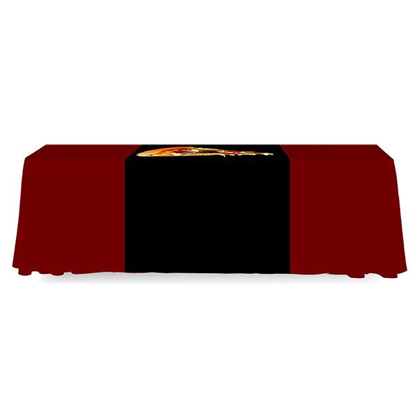 3' Budget Runner Full Color Dye Sub Table Runner Full Back