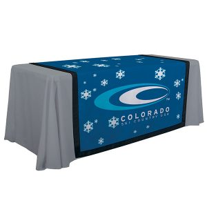 "57"" Full Color Accent Table Runner Black Trim"