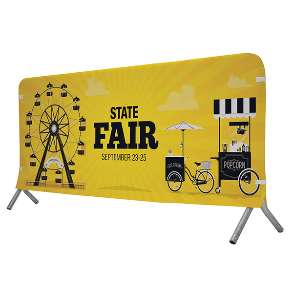 7' Full Color Fabric Barricade Covers Crowd Control Displays