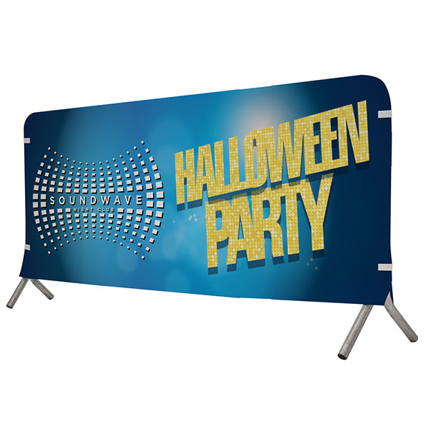 7' Full Color Vinyl Barricade Covers Crowd Control Displays