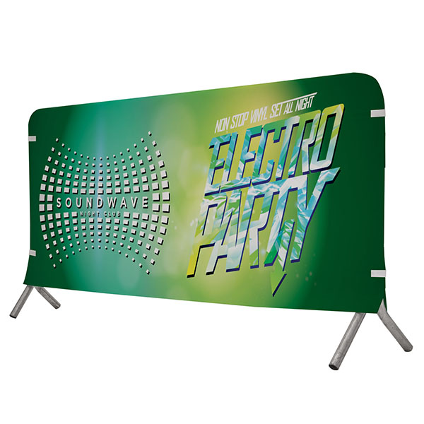 8' Full Color Vinyl Barricade Covers Crowd Control Displays