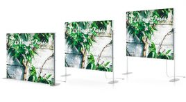 Charisma SEG LED Light Box Elevated Stands Heights