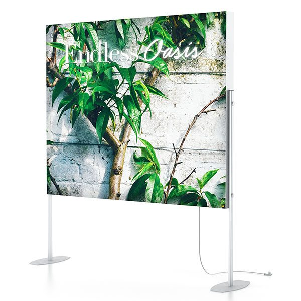 Charisma SEG LED Light Box Elevated Stands With SEG Fabric Graphics