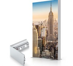 Charisma SEG Light Boxes Floor Mount Double Sided Graphics Frame And LED Strip Lights