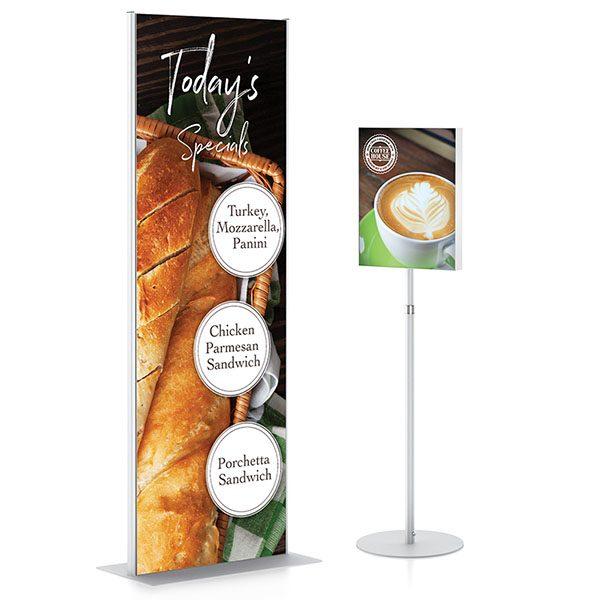 FrameGraphix Magnetic Signware Sign Frame Stand And Pedestal Frame