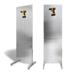 Freestanding Aluminum, On the Ground PegBoard Merchandiser Displays