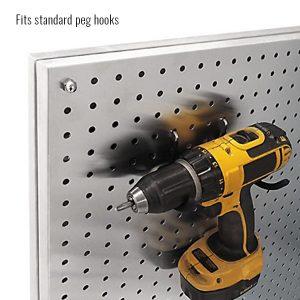 Freestanding Aluminum PegBoard Merchandiser Displays Fits Standard Peg Hooks