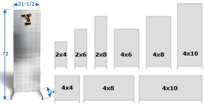 Freestanding On The Ground PegBoard Merchandiser Displays, Different Sizes