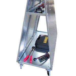 Freestanding ToolCart MX Merchandiser Displays Shelf Close View