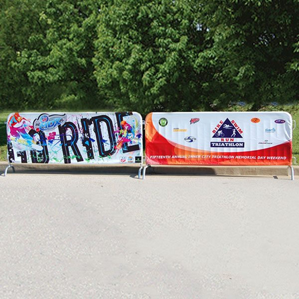 Full Color Barricade Covers Crowd Control Outdoor Displays Front View