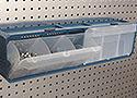 Portable PegBoard Multi Bin Parts Organizer Merchandiser Displays