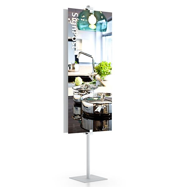 """SignPost Rigid Graphic Stands 96"""" With Clamps"""