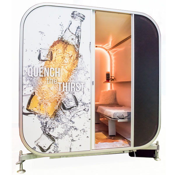 Snoozy Portable Exhibit Room RGB Mood Lighting Full Color Printed Display
