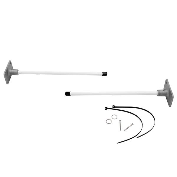 Vertical Wall Mount Banner Bracket System For Indoors And Outdoors