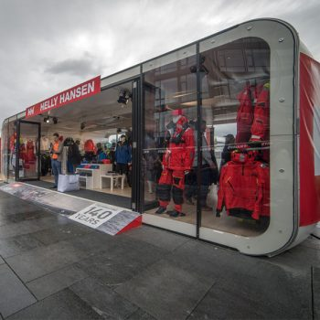 XPO Pop Up Retail Outdoor Display Fully Branded Customized For Retail Store Exterior View