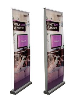 Optimum Retractor Banner Stand