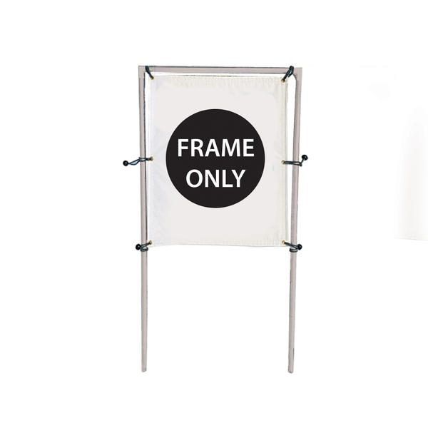 4'W x 5'H In-Ground Single Banner Hardware Only