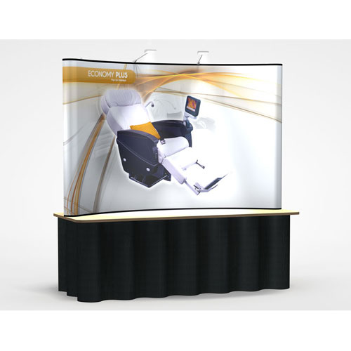 PL6 Tabletop Pop Up Display (8FT Curve) - Graphic Only