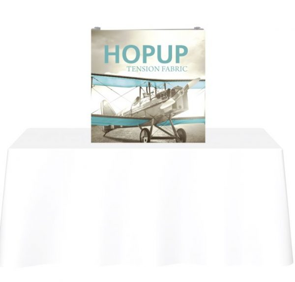 HopUp Display 2.5ft Straight Table Top Tension Fabric Display - Graphic Only