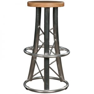 World Truss Curved Leg Bar Stool