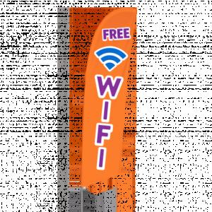Bowflag® Stock Design Free Wifi Flag Banner